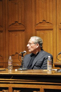 A talk by Bob Woodward '65 on freedom of press drew an audience of about 200 people.